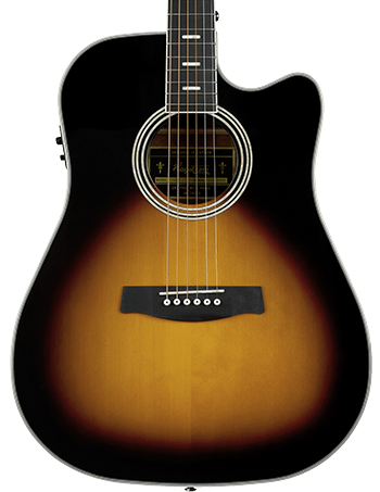 Siljan II Dreadnought CE Tobacco Sunburst
