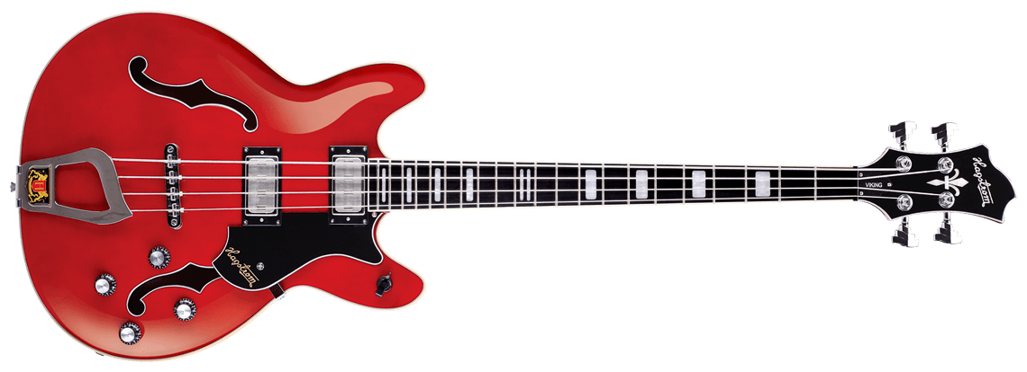 Hagstrom Viking Bass wild cherry transparent - front