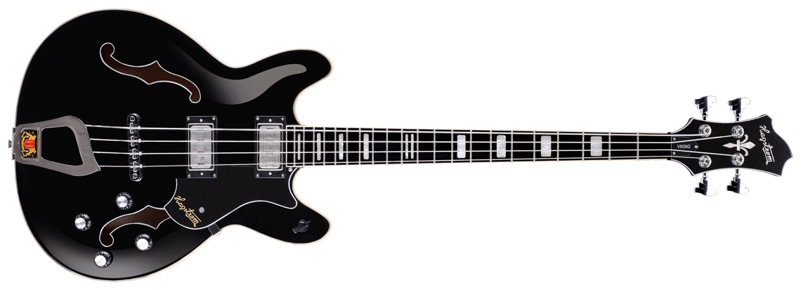 Hagstrom Viking Bass black gloss - front