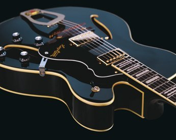 Hagstrom Jazz HJ500 detail black gloss