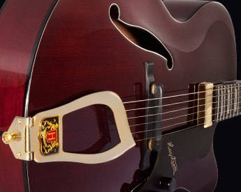Hagstrom Jazz HL550 detail 2 natural mahogany gloss