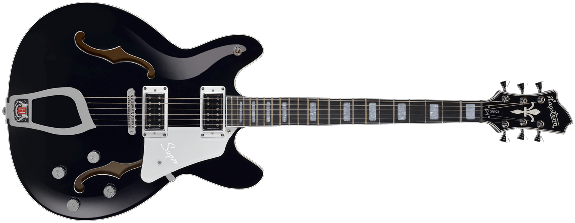 Hagstrom Super Viking Black Gloss front