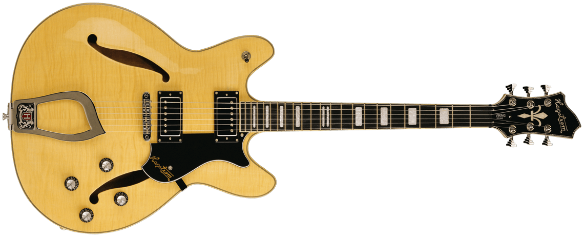 Hagstrom Viking Deluxe Natural Flamed