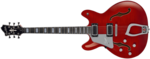 Hagstrom Super Viking lefthand Wild Cherry transparent front