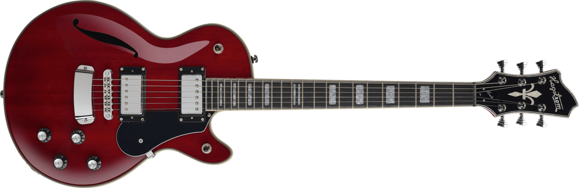 Hagstrom Super Swede Galerie wild cherry transparent - front