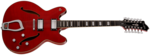 Hagstrom Viking 12 String Deluxe Wild Cherry transparent front side