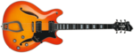 Hagstrom Viking Deluxe Amber Burst Flamed